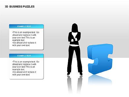 3D Business Puzzles, Slide 6, 00262, Puzzle Diagrams — PoweredTemplate.com