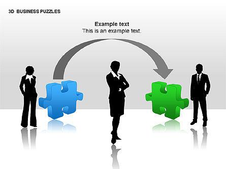 3D Business Puzzles, Slide 7, 00262, Puzzle Diagrams — PoweredTemplate.com