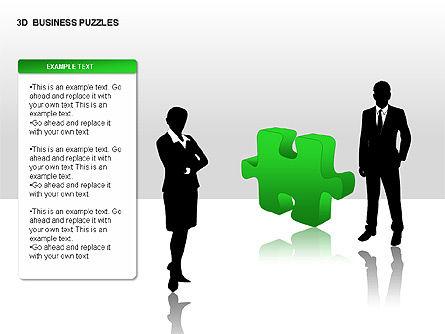 3D Business Puzzles, Slide 8, 00262, Puzzle Diagrams — PoweredTemplate.com
