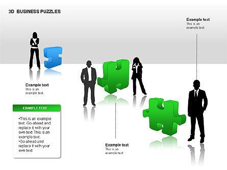 3D Business Puzzles, Slide 9, 00262, Puzzle Diagrams — PoweredTemplate.com