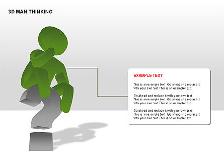 3D Man Thinking, Slide 10, 00265, Stage Diagrams — PoweredTemplate.com