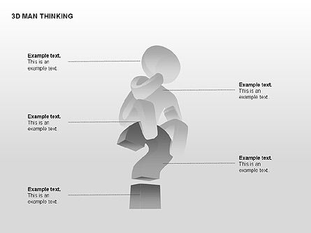 3D Man Thinking, Slide 12, 00265, Stage Diagrams — PoweredTemplate.com