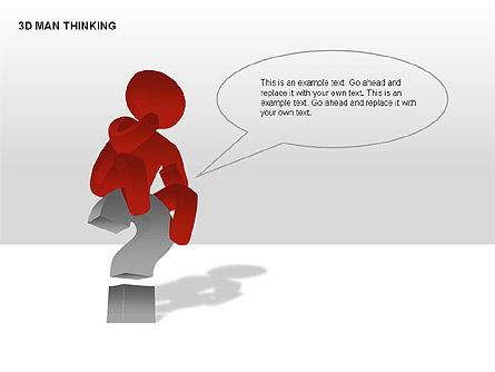 3D Man Thinking, Slide 2, 00265, Stage Diagrams — PoweredTemplate.com