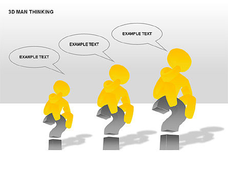 3D Man Thinking, Slide 6, 00265, Stage Diagrams — PoweredTemplate.com