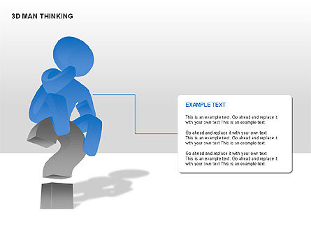 3D Man Thinking, Slide 7, 00265, Stage Diagrams — PoweredTemplate.com