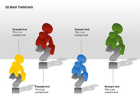 3D Man Thinking, Slide 8, 00265, Stage Diagrams — PoweredTemplate.com