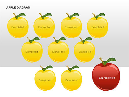 Apple Diagrams Collection, Slide 10, 00266, Stage Diagrams — PoweredTemplate.com