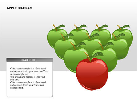 Apple Diagrams Collection, Slide 11, 00266, Stage Diagrams — PoweredTemplate.com