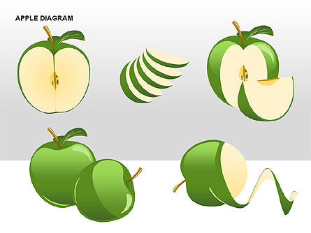 Apple Diagrams Collection, Slide 15, 00266, Stage Diagrams — PoweredTemplate.com