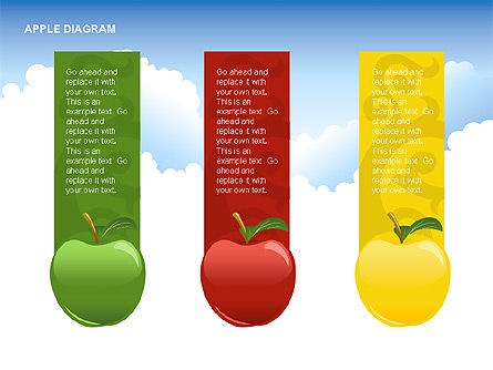 Apple Diagrams Collection, Slide 5, 00266, Stage Diagrams — PoweredTemplate.com