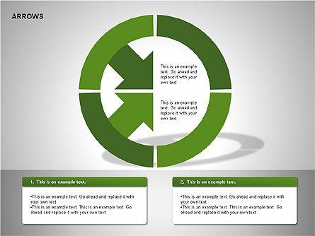 Arrows Collection Diagrams, Slide 10, 00267, Business Models — PoweredTemplate.com