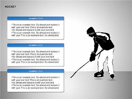 Hockey Shapes, Slide 10, 00268, Silhouettes — PoweredTemplate.com