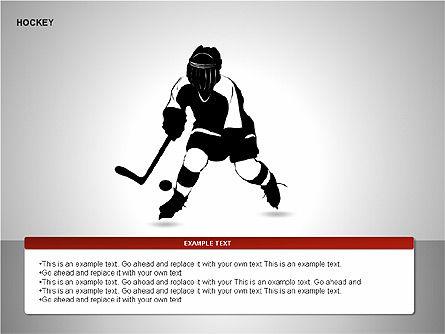 Hockey Shapes, Slide 11, 00268, Silhouettes — PoweredTemplate.com
