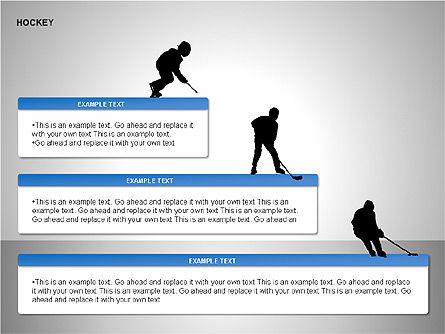 Hockey Shapes, Slide 12, 00268, Silhouettes — PoweredTemplate.com