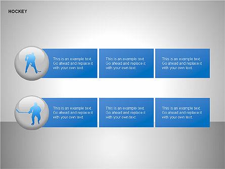 Hockey Shapes, Slide 13, 00268, Silhouettes — PoweredTemplate.com