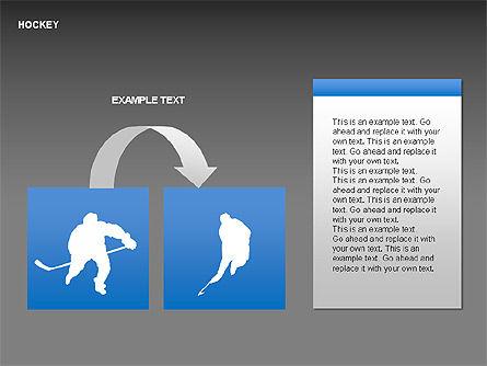 Hockey Shapes, Slide 14, 00268, Silhouettes — PoweredTemplate.com