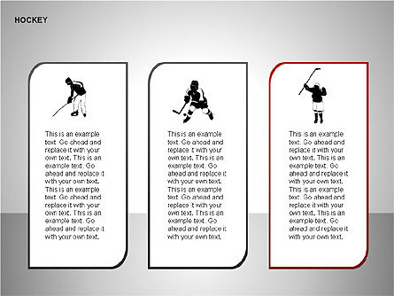 Hockey Shapes, Slide 3, 00268, Silhouettes — PoweredTemplate.com