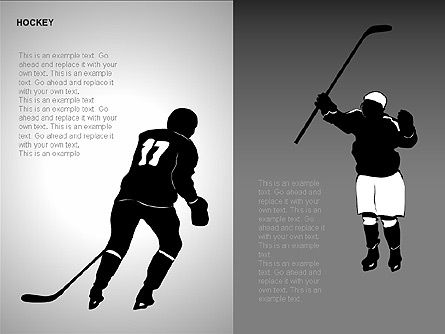 Hockey Shapes, Slide 4, 00268, Silhouettes — PoweredTemplate.com