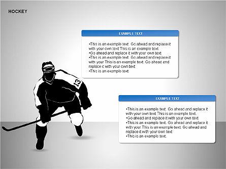 Hockey Shapes, Slide 5, 00268, Silhouettes — PoweredTemplate.com