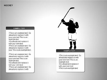 Hockey Shapes, Slide 6, 00268, Silhouettes — PoweredTemplate.com
