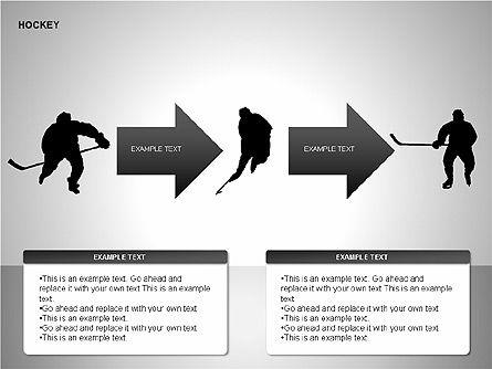 Hockey Shapes, Slide 7, 00268, Silhouettes — PoweredTemplate.com
