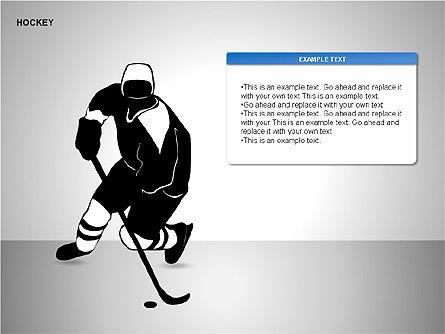 Hockey Shapes, Slide 8, 00268, Silhouettes — PoweredTemplate.com