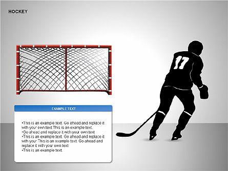 Hockey Shapes, Slide 9, 00268, Silhouettes — PoweredTemplate.com