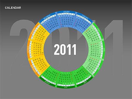 Timelines & Calendars: 파워 포인트 캘린더 #00270