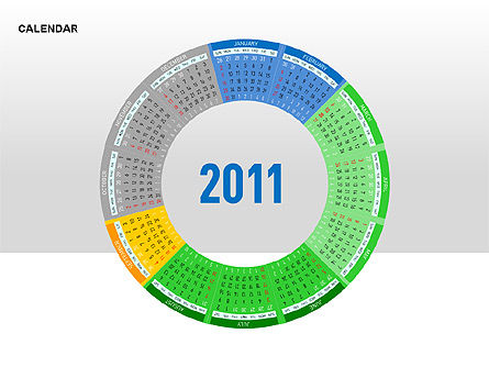 PowerPoint Calendar, Slide 10, 00270, Timelines & Calendars — PoweredTemplate.com