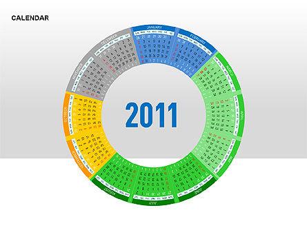 PowerPoint Calendar, Slide 11, 00270, Timelines & Calendars — PoweredTemplate.com