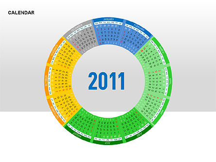 PowerPoint Calendar, Slide 12, 00270, Timelines & Calendars — PoweredTemplate.com