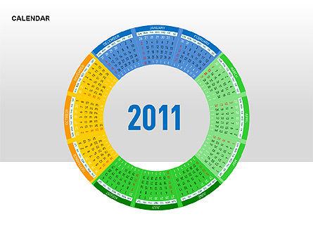 PowerPoint Calendar, Slide 13, 00270, Timelines & Calendars — PoweredTemplate.com