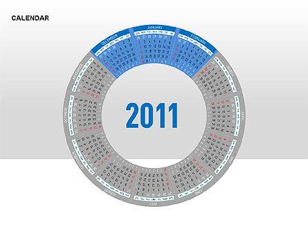 PowerPoint Calendar, Slide 14, 00270, Timelines & Calendars — PoweredTemplate.com