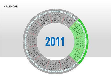 PowerPoint Calendar, Slide 15, 00270, Timelines & Calendars — PoweredTemplate.com