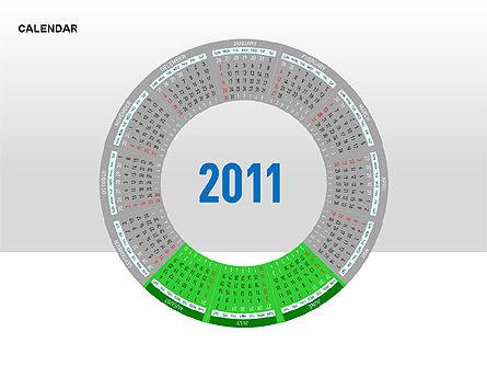 PowerPoint Calendar, Slide 16, 00270, Timelines & Calendars — PoweredTemplate.com