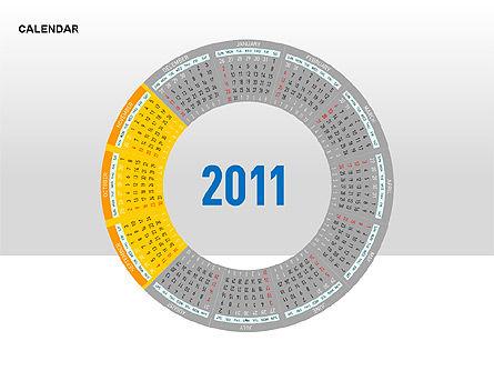 PowerPoint Calendar, Slide 17, 00270, Timelines & Calendars — PoweredTemplate.com