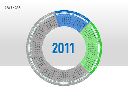 PowerPoint Calendar, Slide 6, 00270, Timelines & Calendars — PoweredTemplate.com