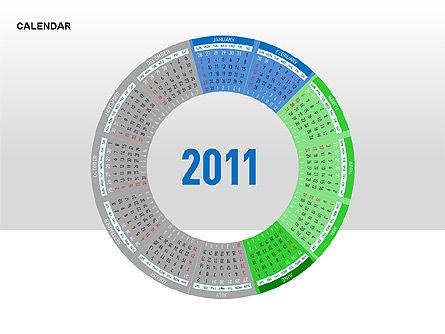 PowerPoint Calendar, Slide 7, 00270, Timelines & Calendars — PoweredTemplate.com
