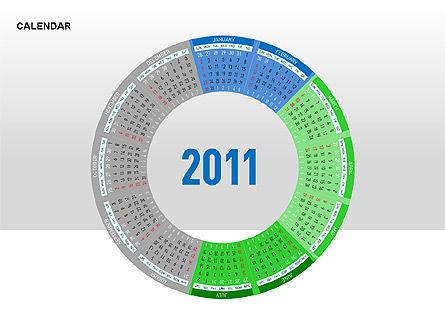 PowerPoint Calendar, Slide 8, 00270, Timelines & Calendars — PoweredTemplate.com