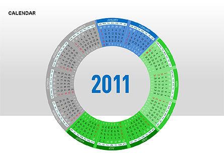 PowerPoint Calendar, Slide 9, 00270, Timelines & Calendars — PoweredTemplate.com
