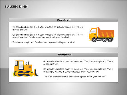 Building Icons Collection, Slide 11, 00271, Icons — PoweredTemplate.com