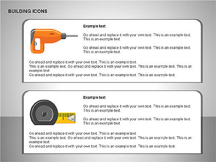 Building Icons Collection, Slide 15, 00271, Icons — PoweredTemplate.com