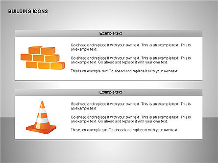 Building Icons Collection, Slide 7, 00271, Icons — PoweredTemplate.com