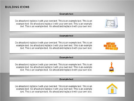 Building Icons Collection, Slide 8, 00271, Icons — PoweredTemplate.com