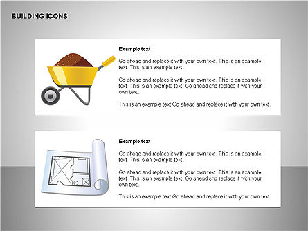 Building Icons Collection, Slide 9, 00271, Icons — PoweredTemplate.com