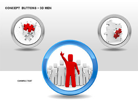 Icons: 3D Man Buttons #00272