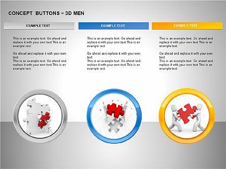 3D Man Buttons, Slide 11, 00272, Icons — PoweredTemplate.com