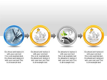 3D Man Buttons, Slide 6, 00272, Icons — PoweredTemplate.com