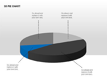 3D Pie Charts with Silhouettes, Slide 11, 00273, Pie Charts — PoweredTemplate.com