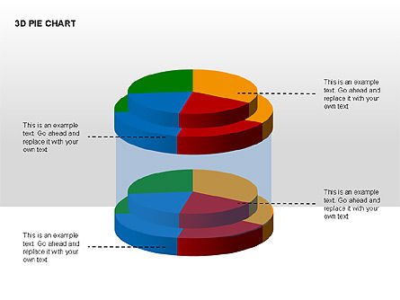 3D Pie Charts with Silhouettes, Slide 12, 00273, Pie Charts — PoweredTemplate.com